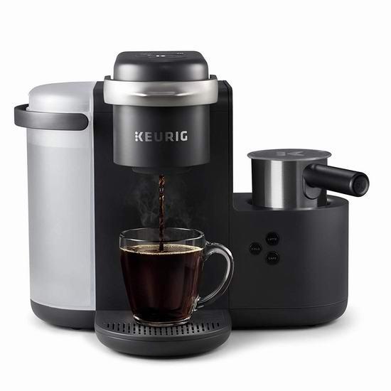 Keurig K-Café 单杯 一体式胶囊咖啡机 174.99加元包邮!带奶泡机!