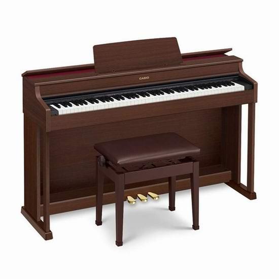 历史新低!Casio 卡西欧 AP470BN 88键重锤 专业电钢琴6折 1373.16加元包邮!