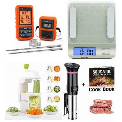 金盒头条:精选多款厨房秤、电子温度计、切菜器、低温慢煮机6.1折起!
