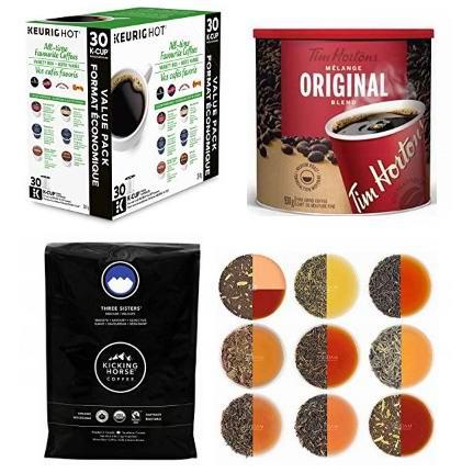 金盒头条:精选 Tim Hortons、Starbucks、Kicking Horse、Keurig 等品牌咖啡豆、速溶咖啡、咖啡胶囊、茶叶等5折起!