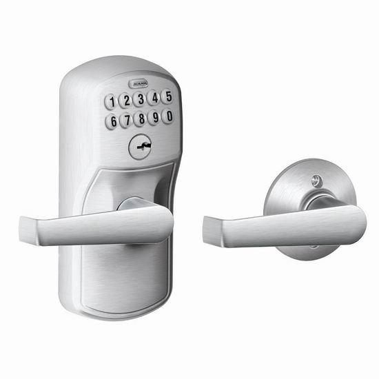金盒头条:历史新低!Schlage 西勒奇 FE575 PLY 自动上锁 家用电子密码门锁4.9折 92.99加元包邮!