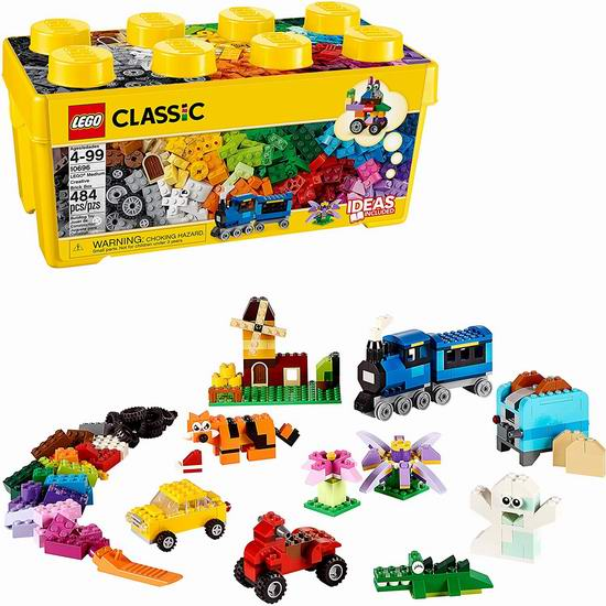 补货!LEGO 乐高 10696 经典创意系列中号积木盒(484pcs)5.9折 27.86加元!