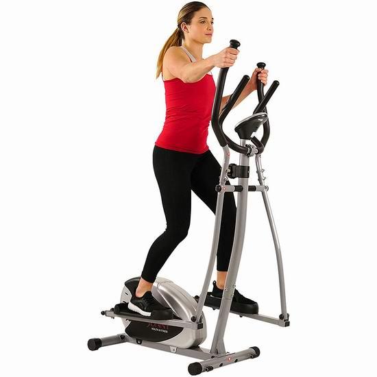 减脂不伤膝盖!Sunny Health & Fitness SF-E905 8级磁阻 家用健身椭圆机 163.67加元包邮!