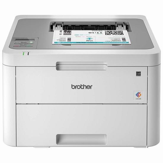 近史低价!Brother HLL3210CW 无线彩色激光打印机5.7折 199.99加元包邮!