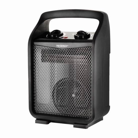 历史新低!Tenergy 1500W/750W 便携式陶瓷电热取暖器4.8折 24.99加元!