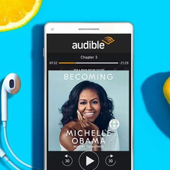 亚马逊免费送价值5加元礼品卡啦!Amazon Audible 有声读物服务,首月免费+送5加元亚马逊礼品卡+送1-2本有声电子书!