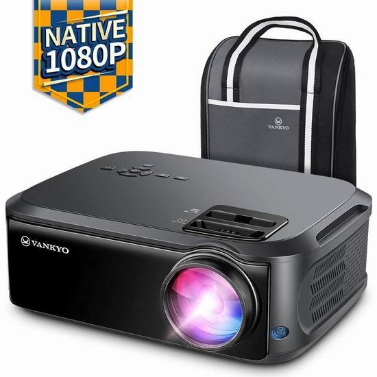 VANKYO Performance V620 1080P 6000流明 家庭影院投影仪 266.04加元包邮!