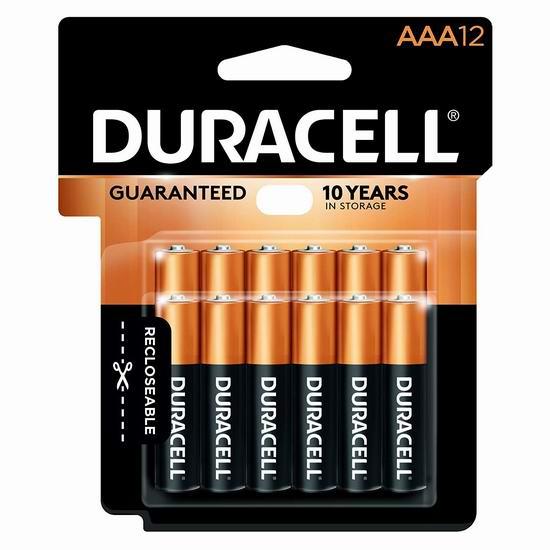 历史新低!Duracell 金霸王 CopperTop AAA碱性电池12件套 8.53加元!