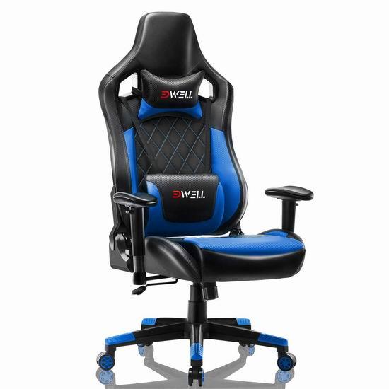 EDWELL 人体工学 高靠背赛车办公椅/游戏椅 159.99加元限量特卖并包邮!4色可选!