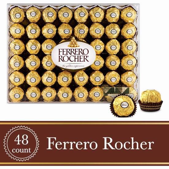 网购周头条:Ferrero Rocher 费列罗 钻石礼盒装巧克力(48粒) 14.79加元!