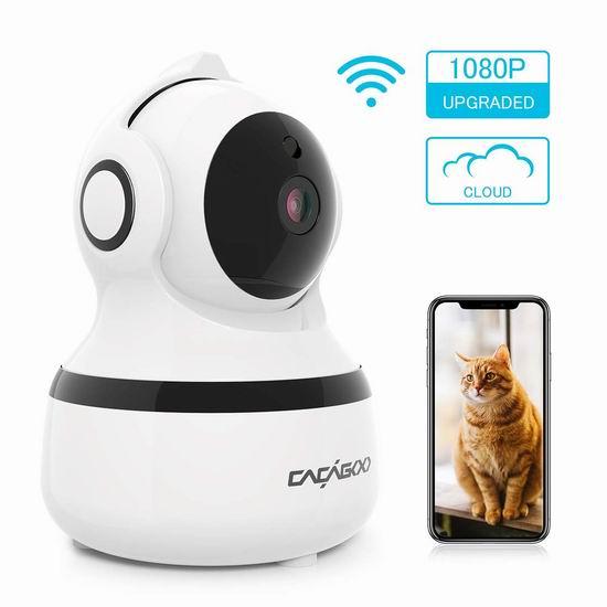 CACAGOO 1080P 无线Wi-Fi安全监控摄像头 29.99加元!