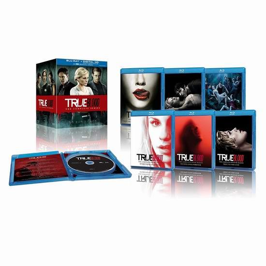 金盒头条:历史新低!《True Blood 真爱如血》共4季80集蓝光影碟版全集3.3折 64.99加元包邮!另有DVD版69.99加元!