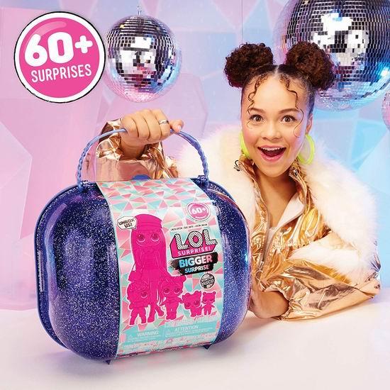历史新低!L.O.L. Surprise! 惊喜娃娃 Winter Disco Bigger 冬日迪斯科限定版 超大盲盒 拆拆球6.6折 79.99加元包邮!