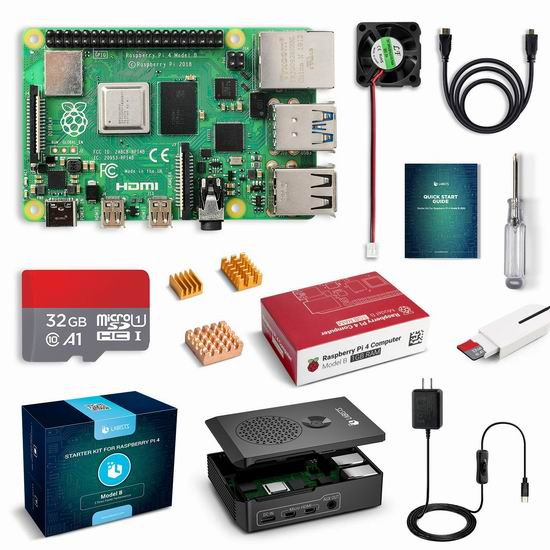 LABISTS Raspberry Pi 4 树莓派4 Model B+ 主机板+Micro SD卡+电源 入门套件 83.99加元限量特卖并包邮!