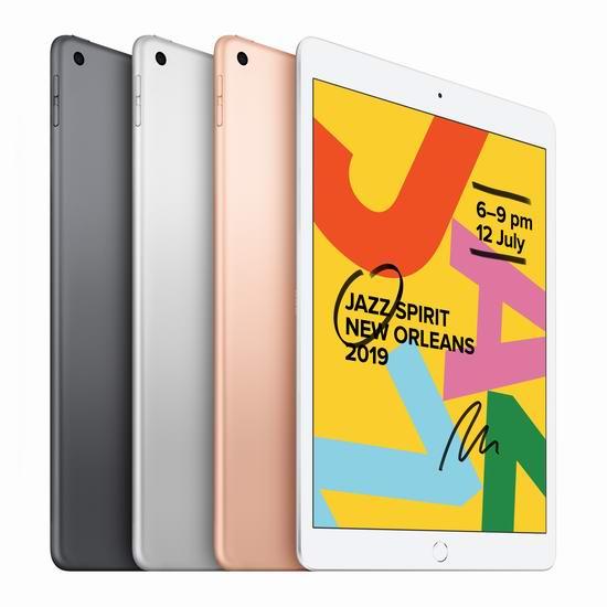 新品 Apple 苹果第七代 iPad 10.2英寸平板电脑 379.99-499.99加元包邮!3色可选!