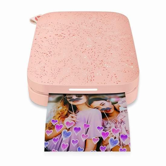 白菜补货!历史新低!HP 惠普 Sprocket 200 小印二代 二合一手机照片打印机4.3折 69.99加元清仓并包邮!3色可选!
