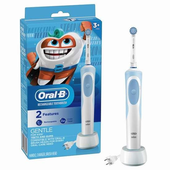 历史新低!Oral-B 欧乐 Vitality 超细毛 深层清洁 电动牙刷5折 16.5加元!