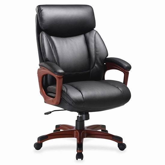 白菜价!历史新低!Lorell Executive Chair-EAHi 高靠背真皮 旋转办公椅2.8折 169.01加元包邮!