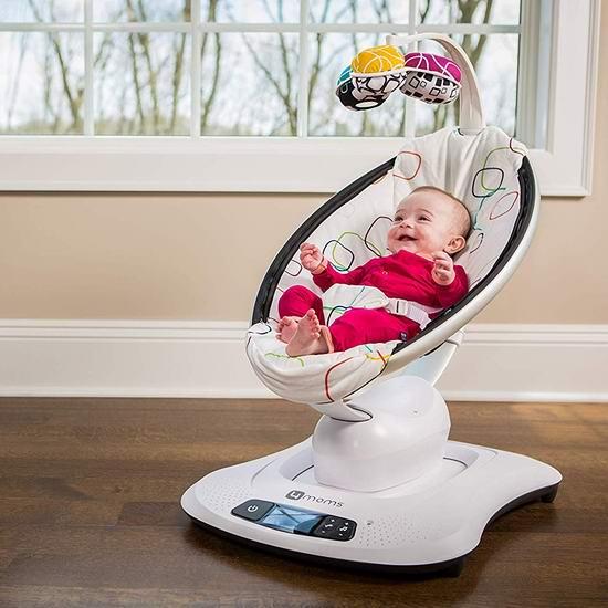 历史新低!黑科技 4moms mamaRoo 4 蓝牙智能 婴儿电动摇摇椅 251.99加元包邮!