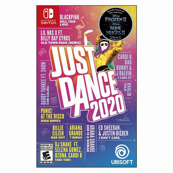 《Just Dance 舞力全开 2020》10周年Switch/Xbox One/PS4版游戏6折 29.96-29.99加元!