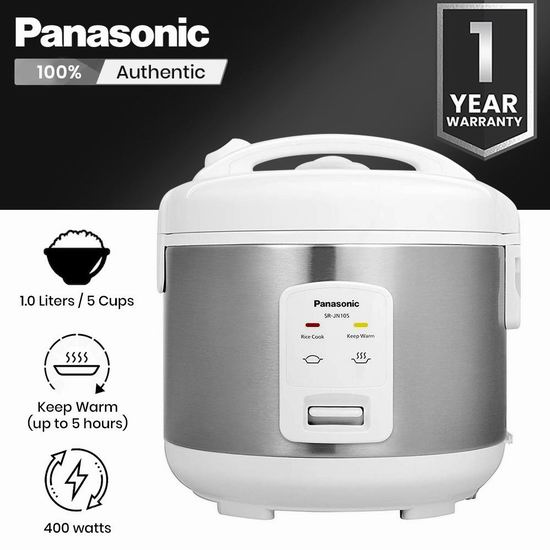 Panasonic 松下 SRJN105SW 5杯量 全自动电饭煲 97.53加元包邮!