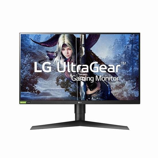 历史新低!LG 27GL850-B 27英寸 Ultragear Qhd Nano IPS 1ms 电竞显示器 549.99加元包邮!