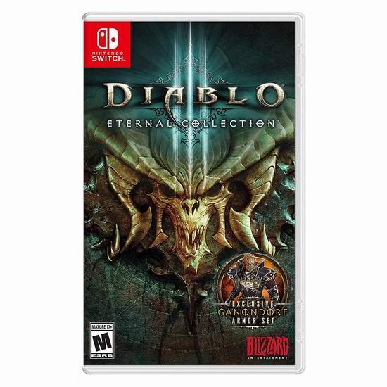 历史新低!《Diablo 3 - Eternal Edition 暗黑破坏神3:永恒收藏版》Switch版游戏3.8折 29.99加元!