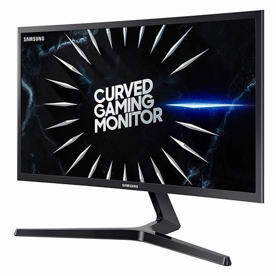 历史最低价!Samsung 三星 LC24RG50FQNXZA 24英寸 144Hz 曲面屏游戏显示器 228加元包邮!
