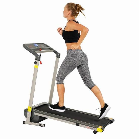 Sunny Health & Fitness SF-T7632 可折叠 家用跑步机 427.27加元包邮!