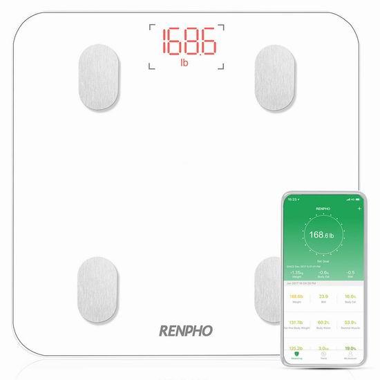 RENPHO 智能蓝牙无线 体脂/体重秤 31.54加元限量特卖并包邮!