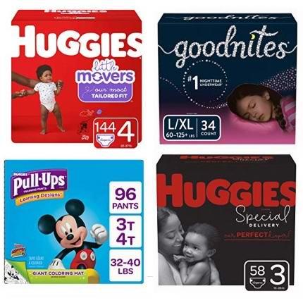 金盒头条:精选 Huggies、Goodnites、Pull ups 品牌婴幼儿纸尿裤5.8折起!