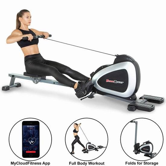 历史新低!Fitness Reality 1000 Plus 蓝牙 家用磁阻划船机/划艇机 367加元包邮!