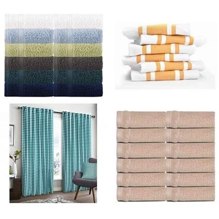 节礼周头条:精选多款高级纯棉毛巾、厨房毛巾、纯棉窗帘6.1折起!低至9.23加元!