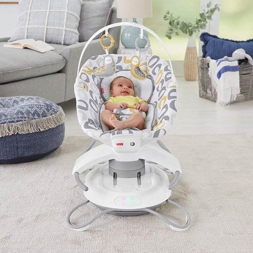 历史最低价!Fisher-Price 费雪 宝宝2合1豪华电动摇椅 99.97加元,原价 163.18加元,包邮