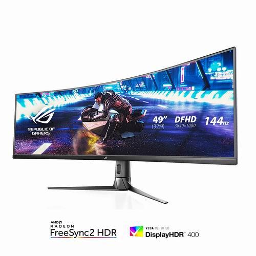 历史新低!ASUS ROG Strix XG49VQ 49英寸 144Hz刷新率 曲面电竞显示屏 949.99加元,原价 1266.49加元,包邮