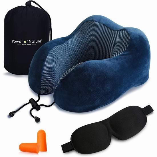 历史新低!PON 舒适U型 记忆海绵护颈枕3.8折 11.55加元限量特卖!送眼罩+耳塞!4色可选!