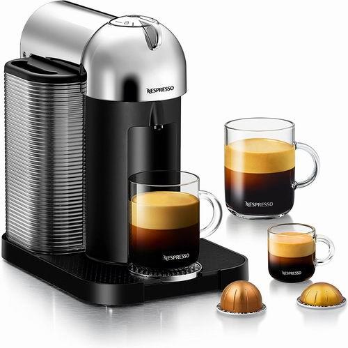 最人性化咖啡机!Nespresso VertuoLine 全自动胶囊咖啡机5.9折 99.99加元包邮!3款可选!