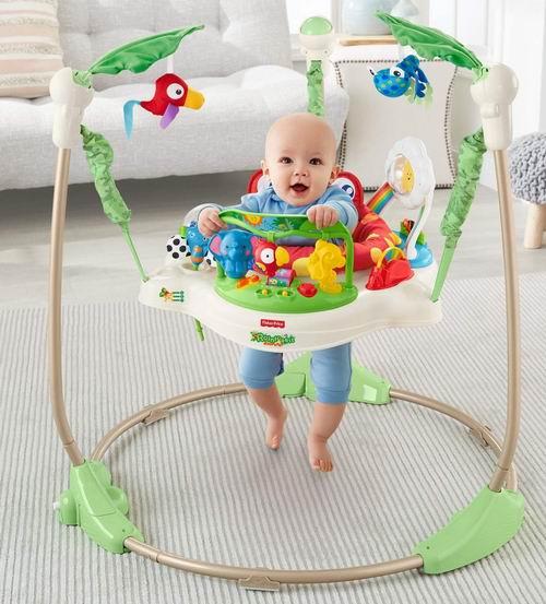 历史最低价!Fisher-Price Rainforest 婴幼儿跳跳乐/弹跳椅 5.8折 74.88加元,原价 129.99加元,包邮