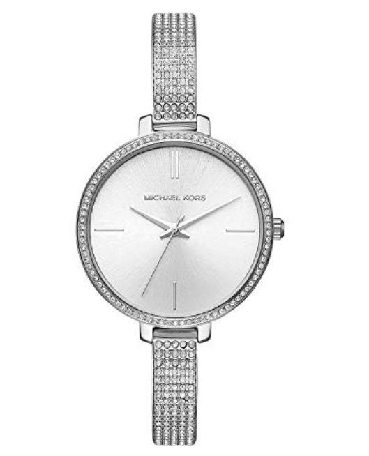 Michael Kors Jarynb银色水晶腕表 173.11加元,原价 322.5加元,包邮