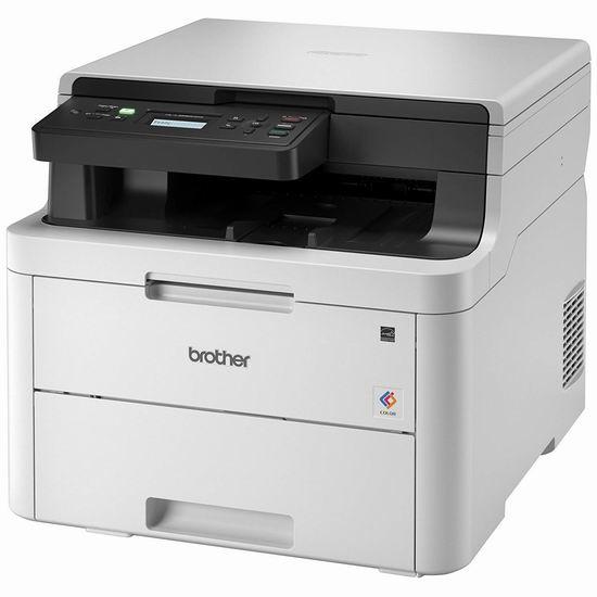 历史最低价!Brother HLL3290CDW 多功能无线彩色激光打印机5折 249.99加元包邮!