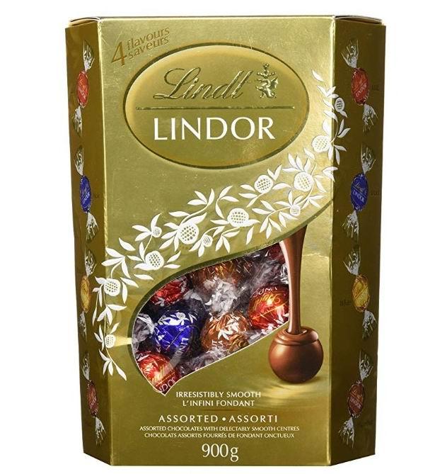 Lindt Lindor瑞士莲什锦松露巧克力 1.98磅 27.86加元,原价 35.77加元