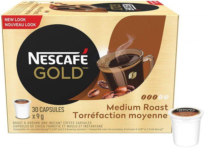 NESCAFÉ雀巢胶囊金胶囊30杯装 14.95加元,原价 17.94加元