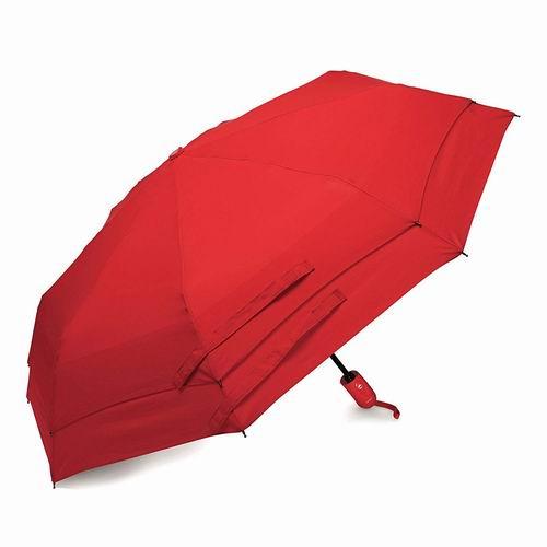 Samsonite 新秀丽 51701-1726 Windguard 红色双层防风自动雨伞 19.99加元,原价 34.99加元