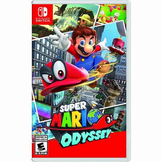 《Super Mario Odyssey 超级马里奥:奥德赛》任天堂Switch版 54.95加元包邮!
