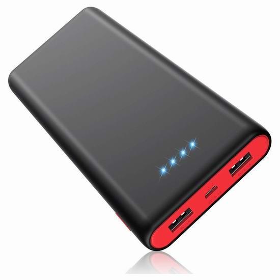 QTshine 25800mAh 双口便携式快速充电移动电源/充电宝 21.99加元限量特卖!