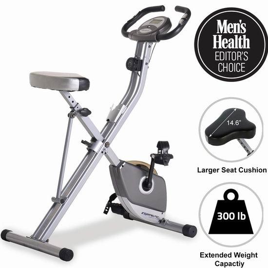 Exerpeutic 1200 可折叠磁阻健身自行车 181.12加元包邮!居家健身必备!