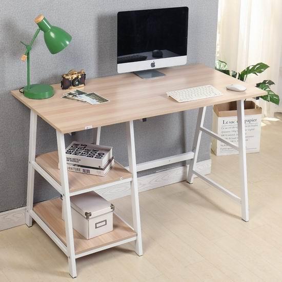 Soges Tplus 47英寸 时尚电脑桌/书桌 87-92加元限量特卖并包邮!2色可选!