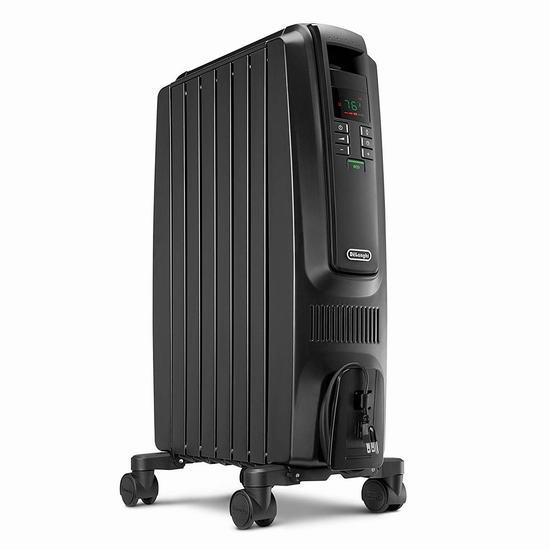 近史低价!Delonghi 德龙 TRD40615EBKCA Dragon 数字程控电热油汀 119.99加元包邮!御寒神器、保暖又省电!