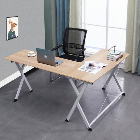 sogesfurniture L型时尚电脑桌/办公桌 99加元限量特卖并包邮!