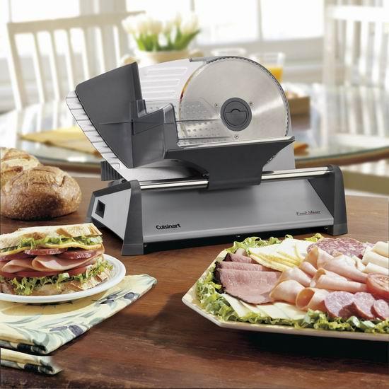 Cuisinart CFS-155C 7.5英寸不锈钢 熟食切片机 7.5折 104.99加元包邮!